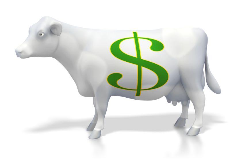 Clipart - Cash Money Cow
