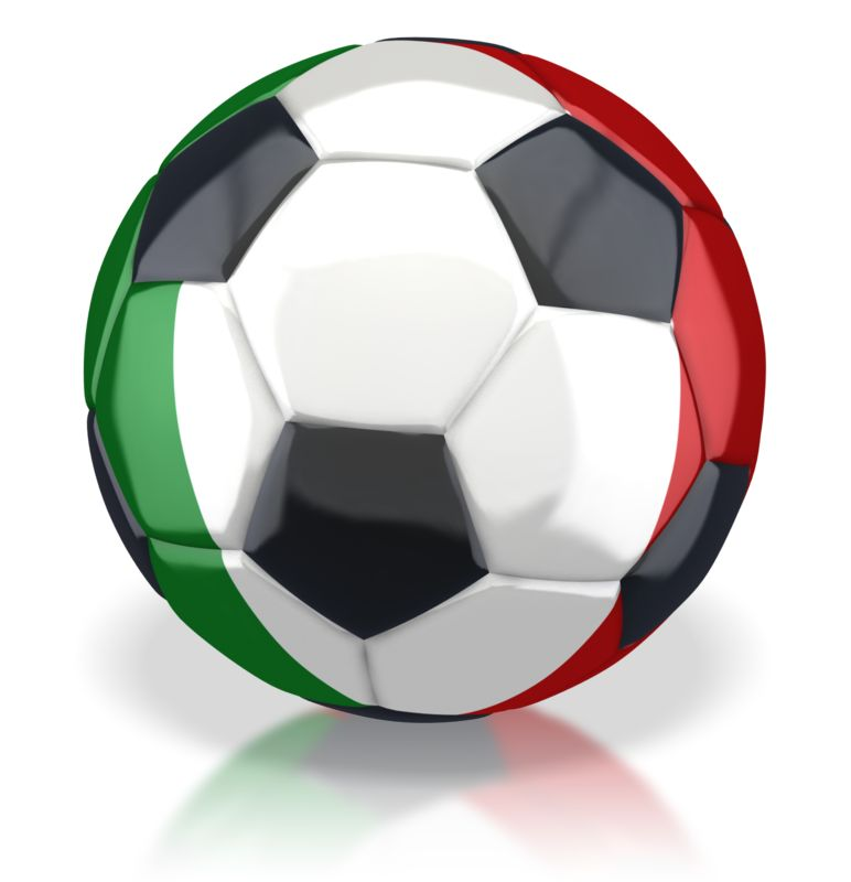 Clipart - Italy Soccer Ball