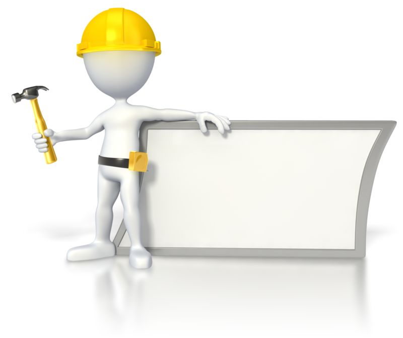Clipart - Construction Stick Figure by Sign