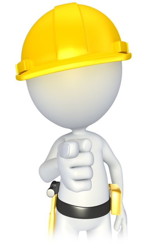 Clipart - Construction Stick Figure Pointing