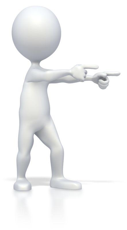 Clipart - Stick Figure Double Point