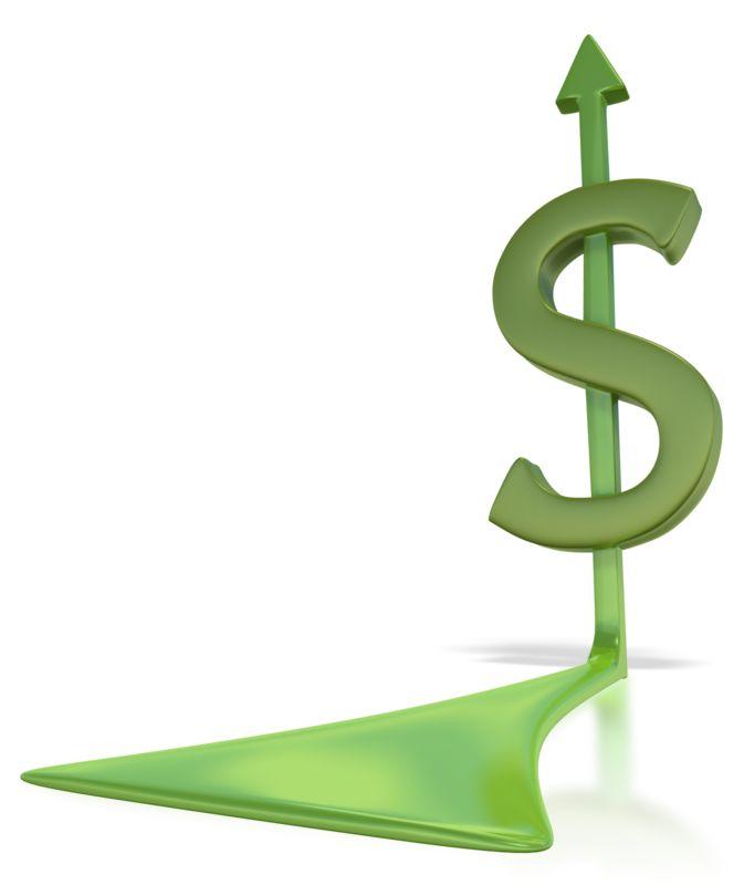 Clipart - Dollar Sign Arrow
