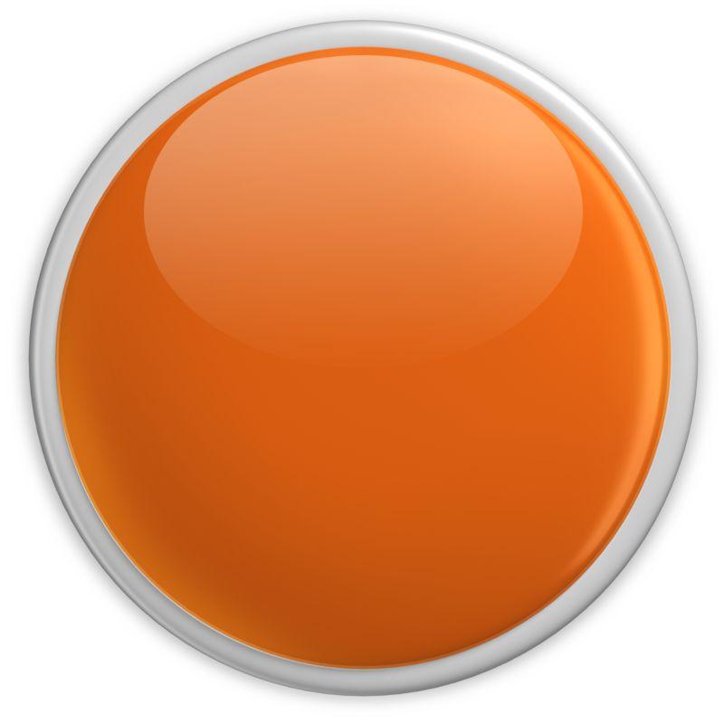 Clipart - Badge Blank Button Orange