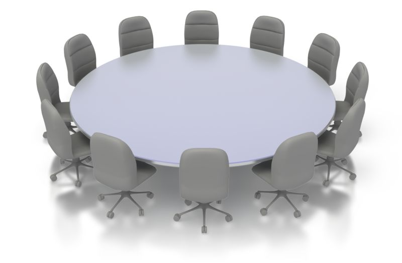 Clipart - Round Table Conference