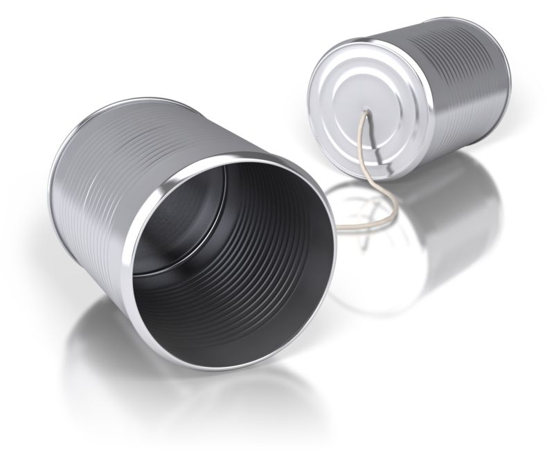 Clipart - Tin Can Communication