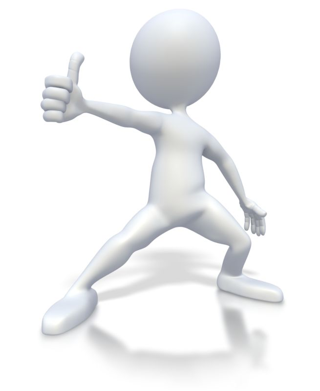 Clipart - Stick Figure Excited Thumbs Up