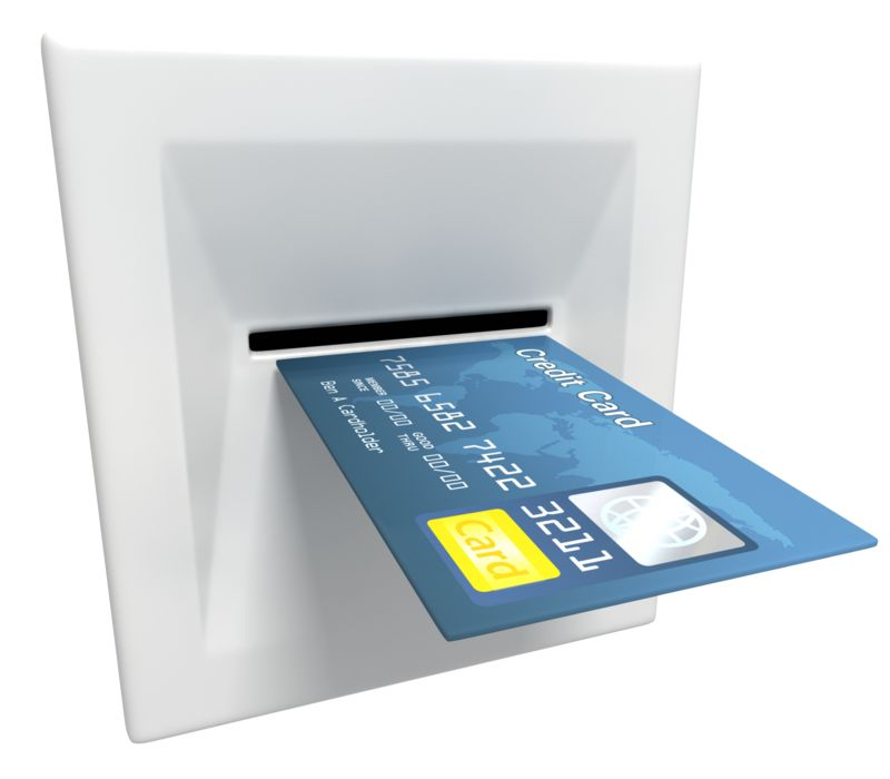 Clipart - Insert Credit Card Atm Machine