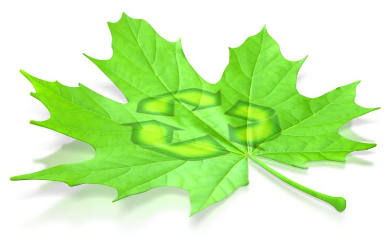 Clipart - Leaf Recycle Symbol