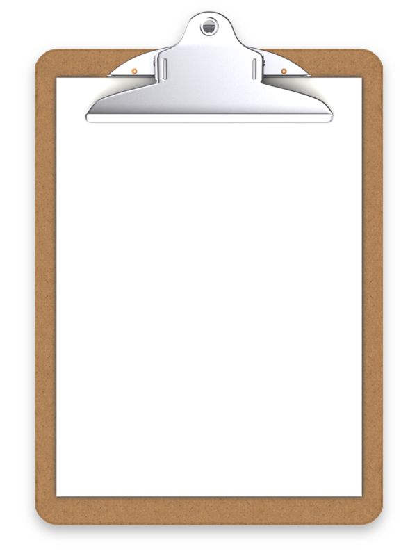 Clipart - Office Clipboard Blank