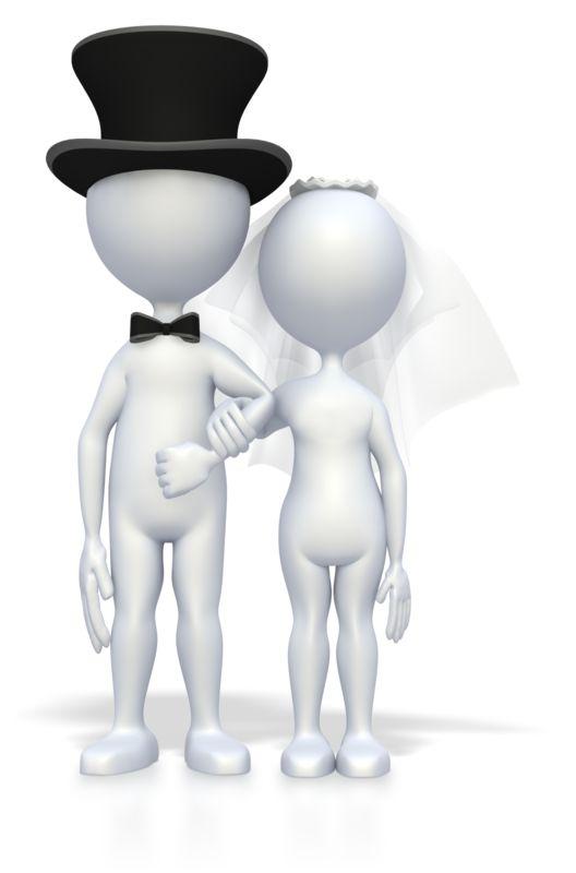 Clipart - Wedding Couple Arm And Arm