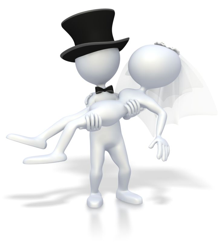 Clipart - Groom Holding Bride