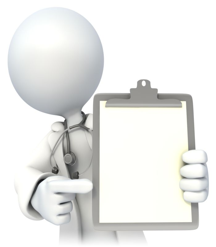 Clipart - Doctor Holding Blank Chart