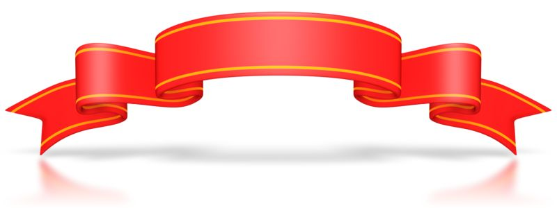 Clipart - Large Red Flag Banner