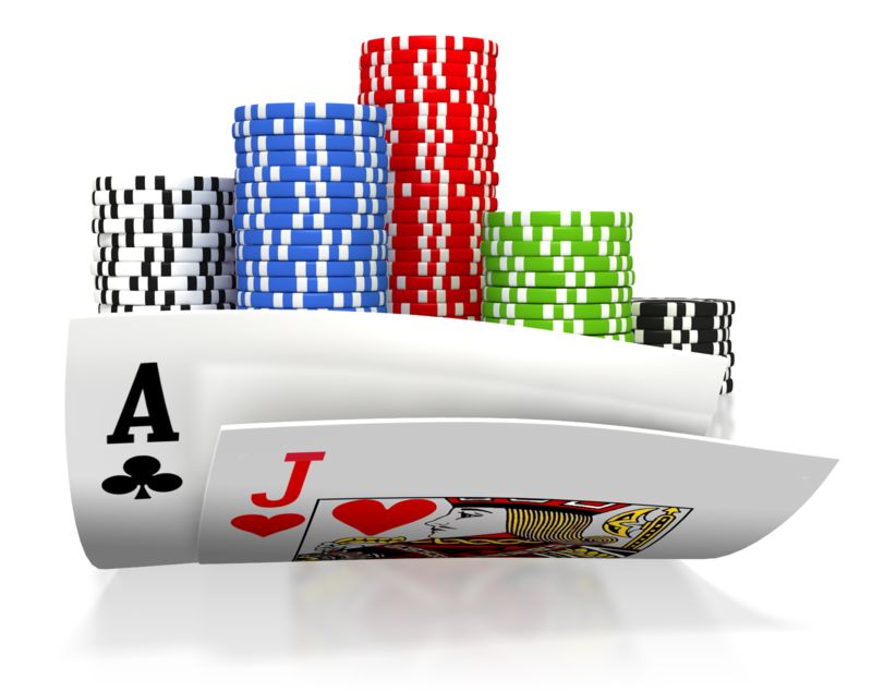 Clipart - All In Black Jack Gamble