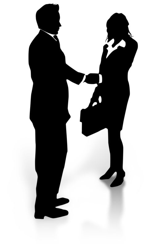 Clipart - Business Silhouette Shake