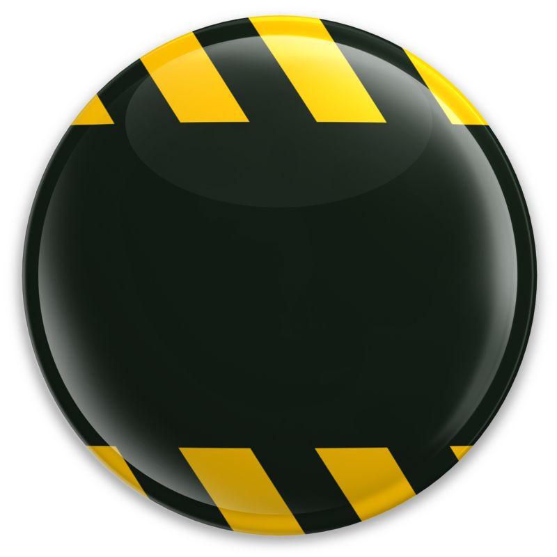 Clipart - Black Button Caution Construction