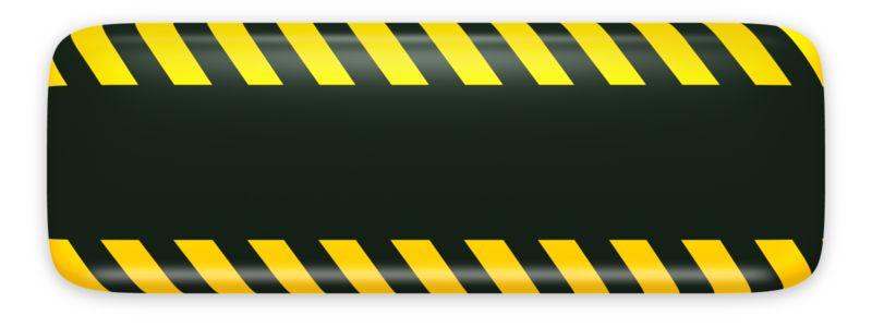 Clipart - Black Bar Caution Construction