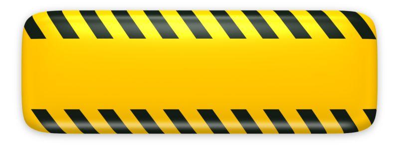 Clipart - Yellow Bar Caution Construction