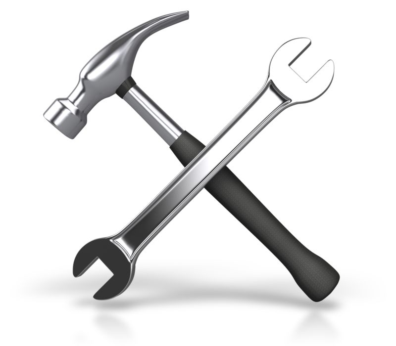 Clipart - Metal Wrench Hammer