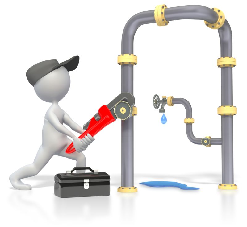 Clipart - Plumber Plumbing Pipes