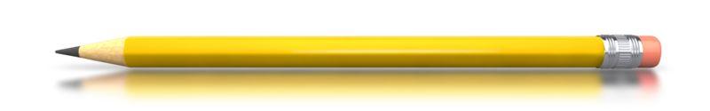 Clipart - Yellow Pencil Horizontal