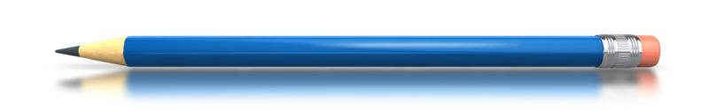 Clipart - Blue Pencil Horizontal