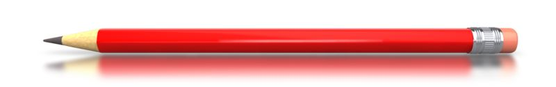 Clipart - Red Pencil Horizontal
