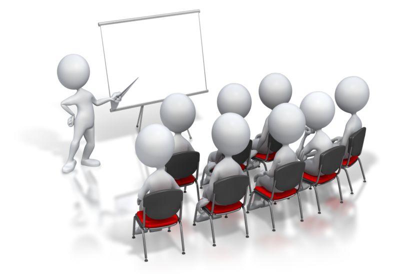 Clipart - Stick Figure Presenter Meeting