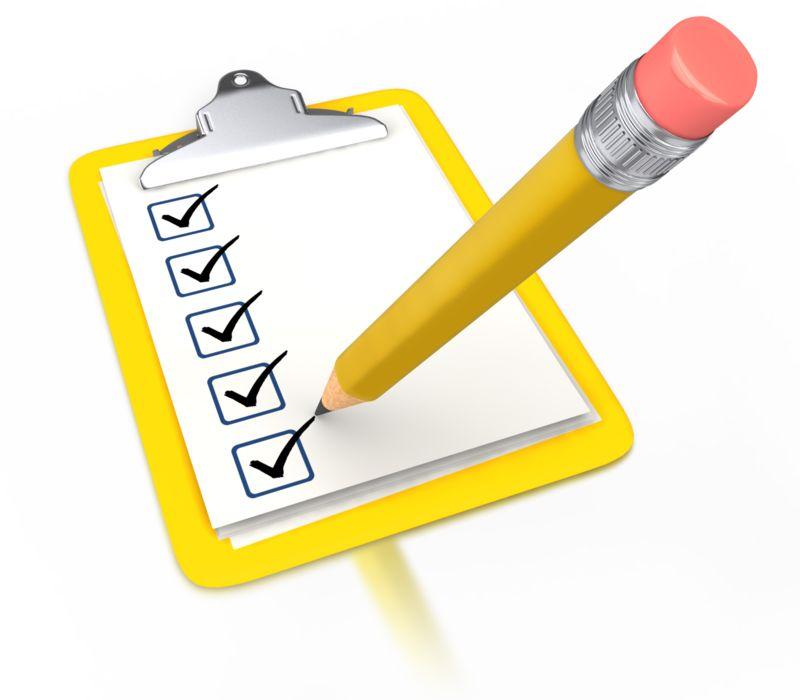 Clipart - Pencil Draw Checkmark Yellow Clipboard