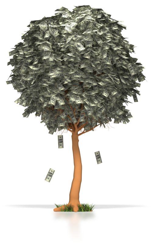 Clipart - Money Dollar Tree