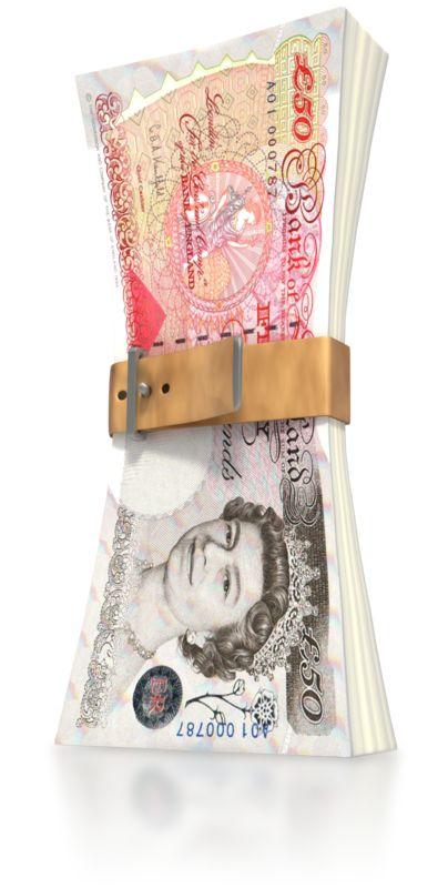 Clipart - Pound Money Squeeze
