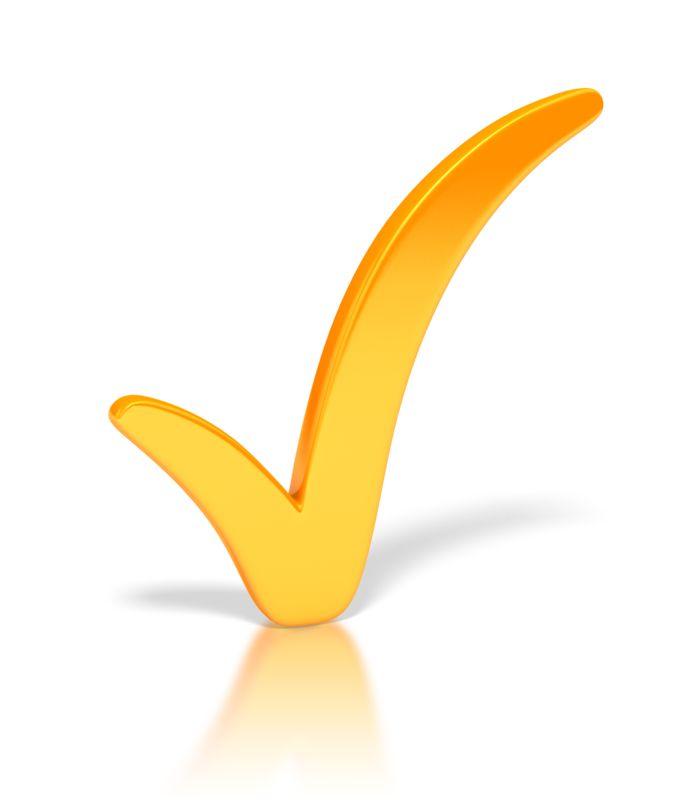Clipart - Check Mark Orange