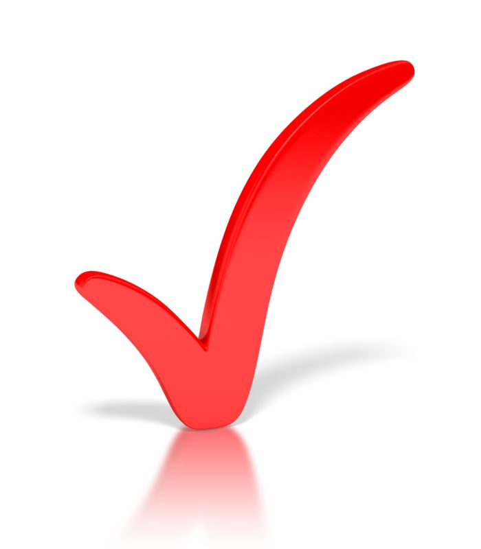 Clipart - Check Mark Red