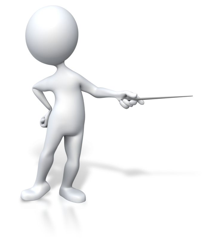 Clipart - Stick Figure Presenter Pointing