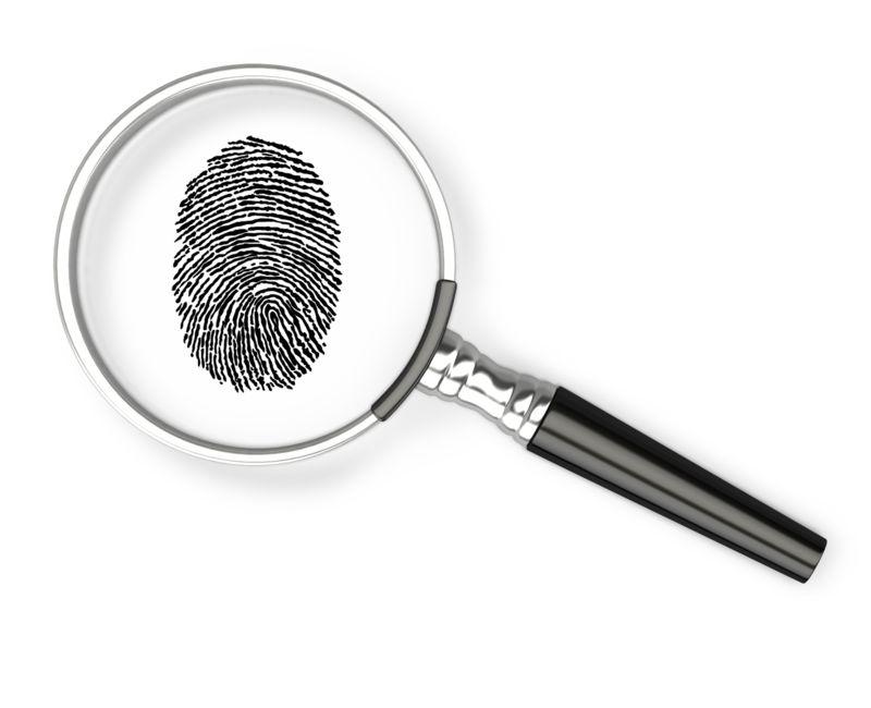Clipart - Magnifying Glass Fingerprint