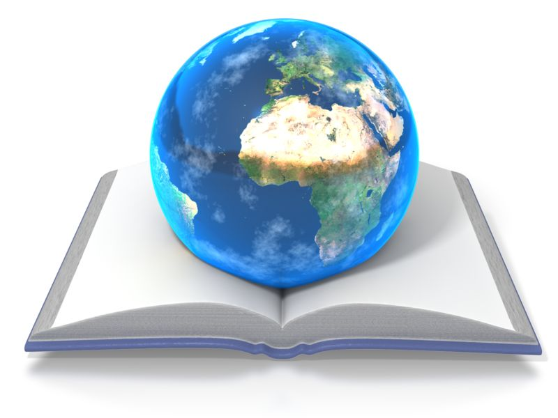 Clipart - Knowledge Opens the World