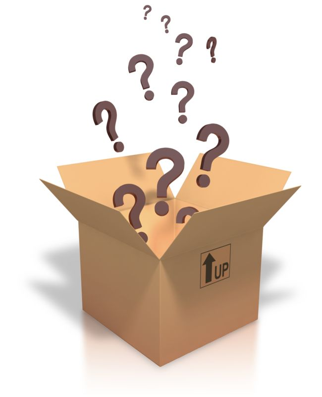 Clipart - Question Marks Coming Out Of Box