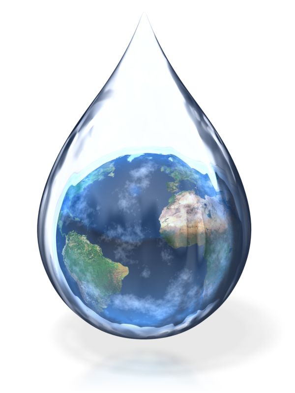 Clipart - Earth Water Drop