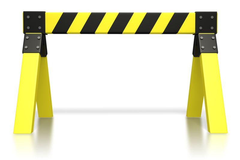 Clipart - Caution Saw Horse