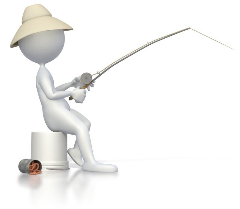 Clipart - Stick Figure Fishing