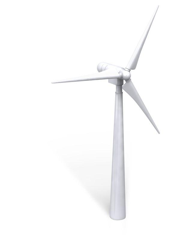 Clipart - Single Wind Turbine