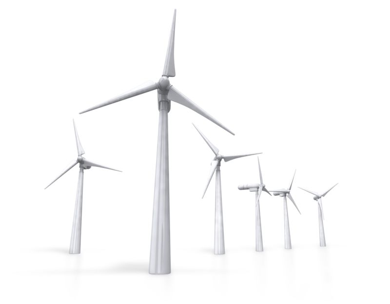 Clipart - Group Of Wind Turbines