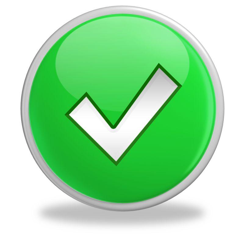 Clipart - Green Check Mark Button