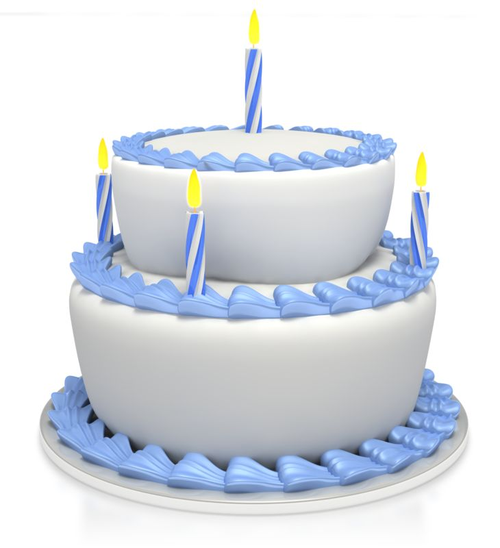 Clipart - Birthday Cake