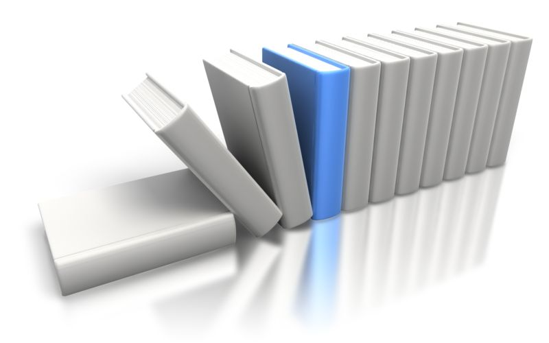 Clipart - Blue Book Stand Out