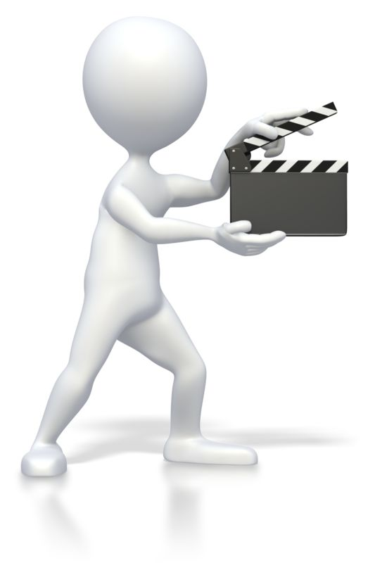 Clipart - Stick Figure With Clap Board