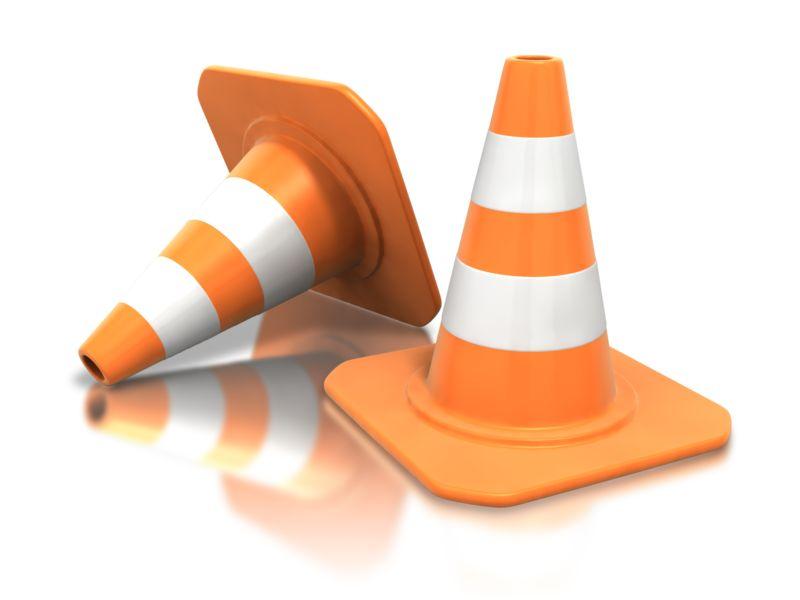 Clipart - Construction Cone Pair