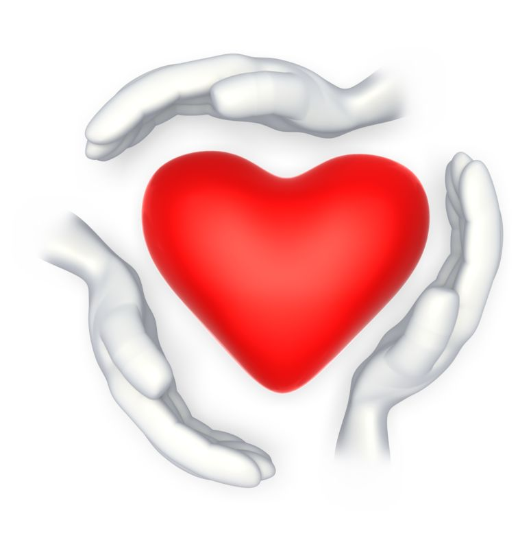 Clipart - Hands Around Heart Shape