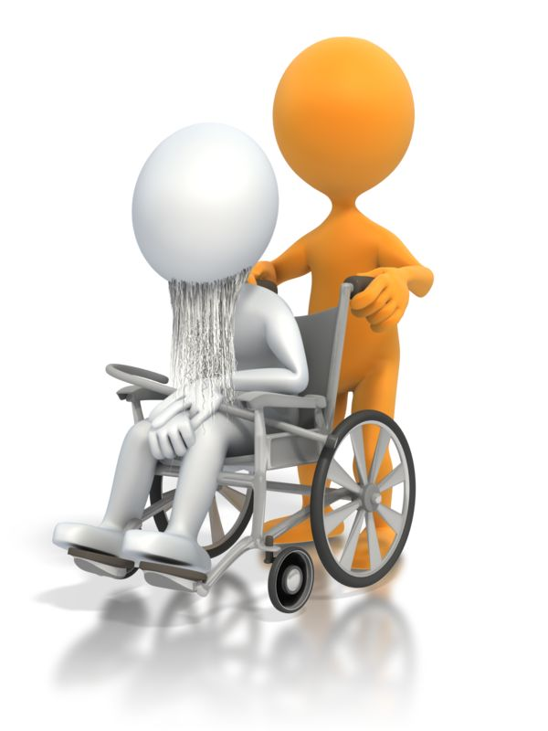 Clipart - Old Person Wheelchair