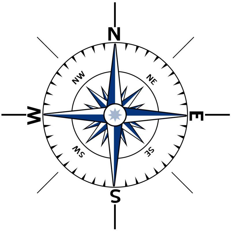 Clipart - Nautical Compass Outline